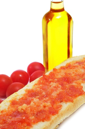 pa: pa amb tomaquet, bread with tomato, typical of Catalonia, Spain