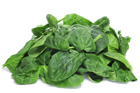 a pile of spinach on a white background Stock Photo - 17553043