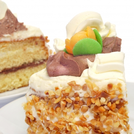 glace: some pieces of mona de pascua, a typical spanish easter cake