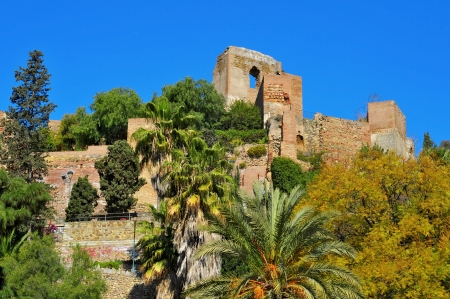 alcazaba: a view of Alcazaba of Malaga, in Malaga, Spain