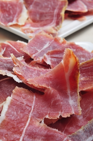 closeup of a some spanish serrano ham tapas Stock Photo - 18274927