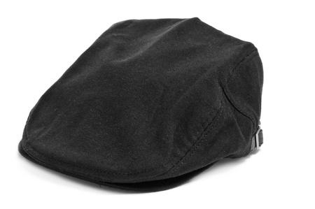 insolación: una tapa plana negro en un fondo blanco