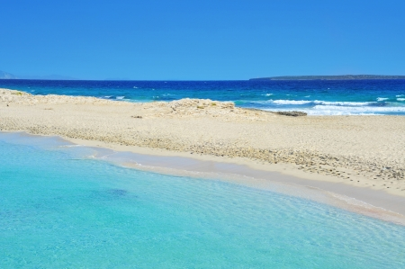 formentera: view of Ses Illetes Beach in Formentera, Balearic Islands, Spain
