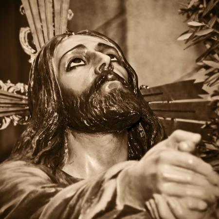 viacrucis: a representation of Jesus Christ praying in the Garden of Gethsemane