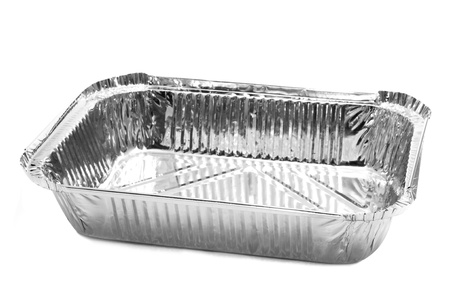 an aluminium foil tray on a white background Stock Photo - 18871715
