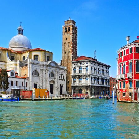 a view of The Grand Canal in Venice, Italy Stock Photo - 19365552