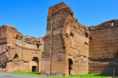 A view of the remains of the Baths of Caracalla in Rome, Italy photo