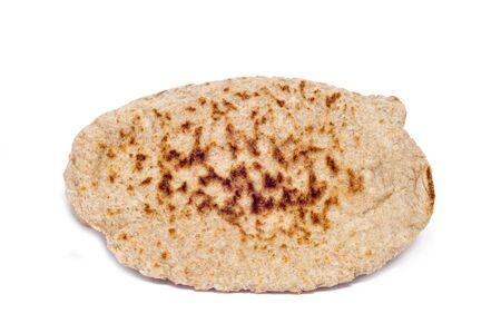 pita: some pita breads on a white background Stock Photo