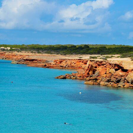formentera: view of Cala Saona coast in Formentera, Balearic Islands, Spain