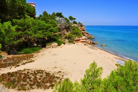 the dorada: view of Cala dels Vienesos beach in Miami Playa, Mont-roig del Camp, Spain