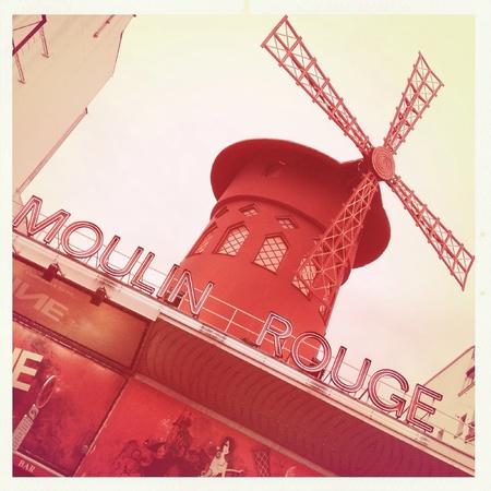 rouge: Moulin Rouge in Paris