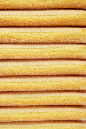 boudoir: closeup of a pile of ladyfingers Stock Photo