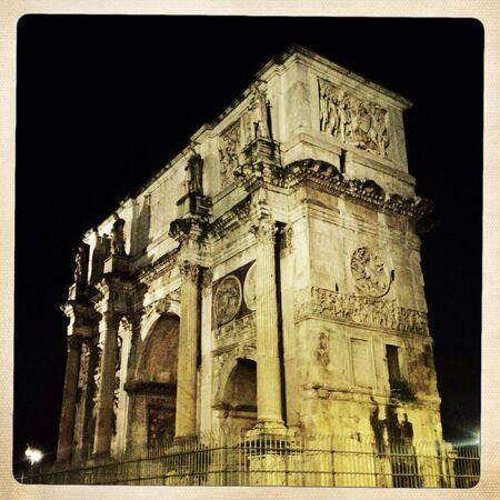 constantino: Arco di Constantino in Rome Stock Photo