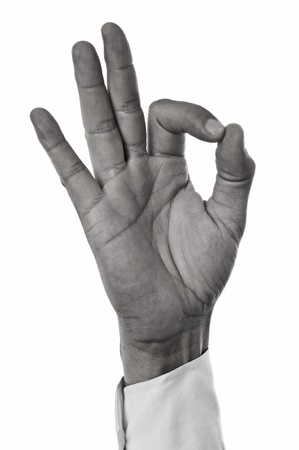 a man hand making the okay sign Stock Photo - 21374755