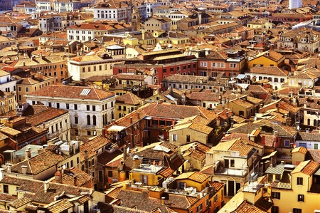 sestiere: aerial view of the sestiere of San Marco in Venice, Italy Stock Photo