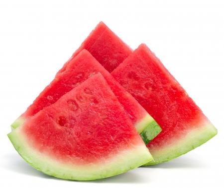 watermelon: closeup của một số miếng dưa hấu tươi mát trên nền trắng