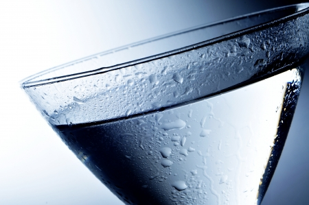 closeup of a cocktail glass with an alcoholic beverage photo