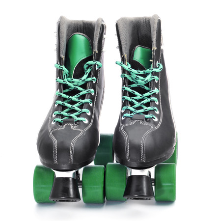 rollerskater: a pair of roller skates on a white background