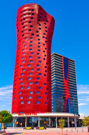 2013 年 9 月 16 日、スペインのバルセロナ ホテル ポルタ フィラ バルセロナ、スペインにあるこのホテルでは、28 階建ての建物と、2011 年 7 月だった 2 報道画像