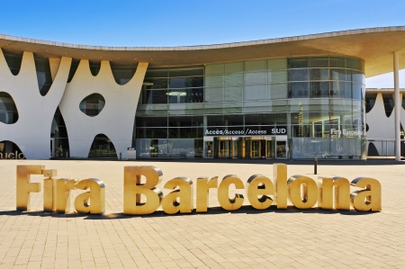 Barcelona, Spain - September 16, 2013 Gran Via Centre of Fira de Barcelona in Barcelona, Spain  This trade fair institution is a leading organizer of industrial trade shows in Spain