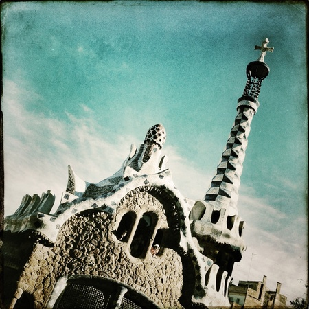 guell: Parc Guell in Barcelona Spain Stock Photo