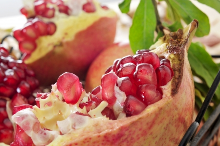 closeup of a pomegranate fruit photo