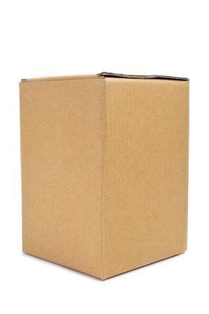 a cardboard box on a white background photo