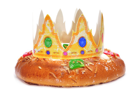 roscon de reyes, spanish three kings cake eaten on epiphany day