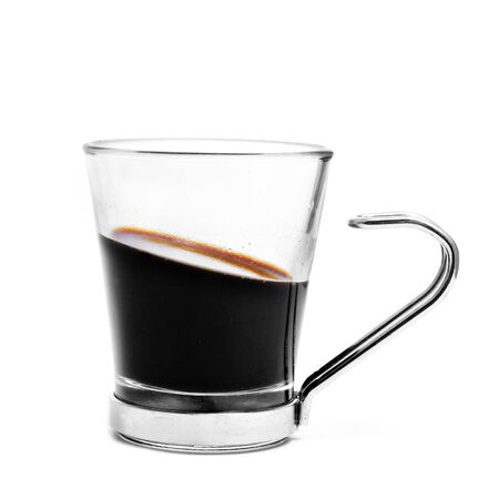 a cup of coffee on a white background photo