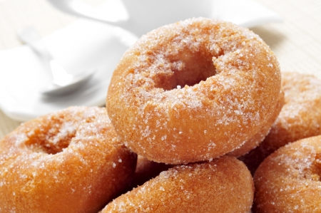 closeup of a pile of rosquillas, typical spanish donuts, on a set table 版權商用圖片