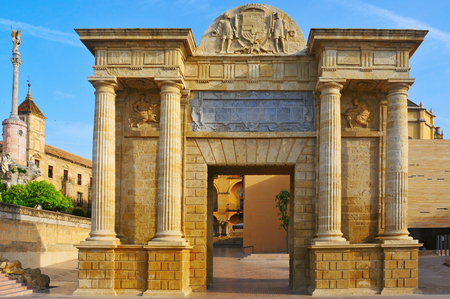 View of Puerta del Puente in Cordoba, Spain photo