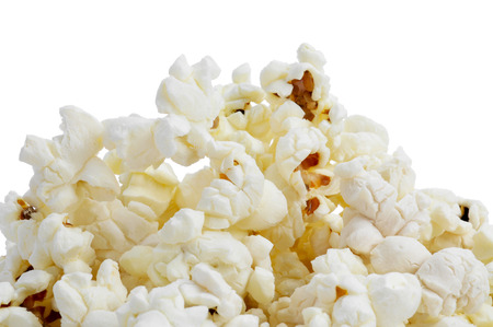 flavoured: a pile of popcorn on a white background