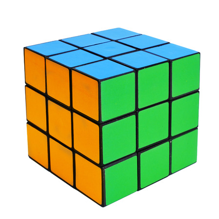 a cube puzzle on a white background