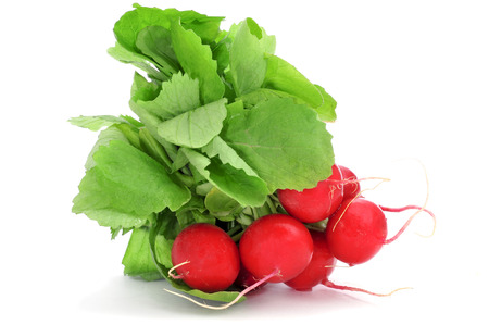a bunch of radishes on a white background  photo