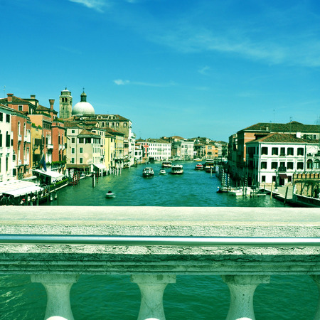picture of the Grand Canal  in Venice, Italy, with a retro effect photo