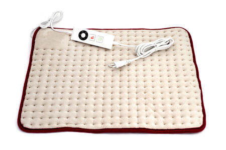 thermotherapy: a heating pad on a white background