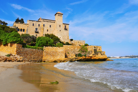 the dorada: a view of Tamarit Castle, in Tarragona, Spain