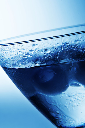 closeup of a cold dry martini in a cocktail glass Stock Photo