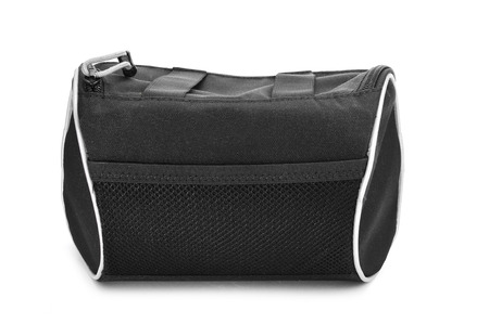 a black multipurpose bag on a white background photo