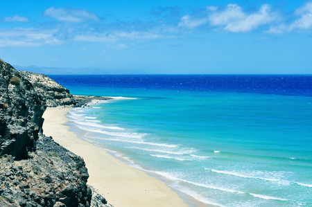 canary island: view of Butihondo Beach in Fuerteventura, Canary Islands, Spain