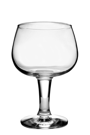sniffer: an empty balloon glass on a white background