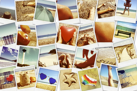 outdoor photo: mosaic with pictures of different summer scenes, shot by myself