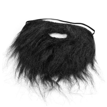 falso: una barba postiza en un fondo blanco Foto de archivo