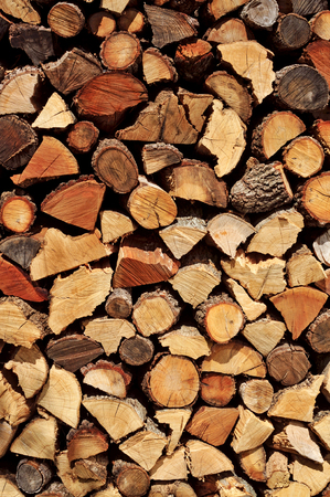 a pile of chopped firewood logs photo