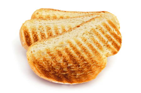 some toasts on a white background photo