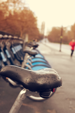 hyde: bicycle seat in Hyde Park in London, United Kingdom