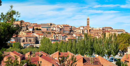 a panoramic view of Tarazona, in the province of Zaragoza, Spain Stock Photo