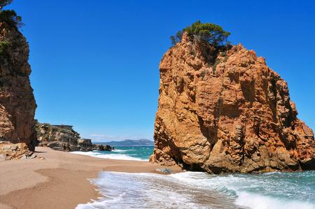 naturism: a view of the Cala Illa Roja beach in Begur, in the Costa Brava, Catalonia, Spain