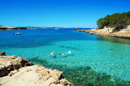 antonio: a view of the beautiful Cala Gracioneta beach in San Antonio de Portmany, in Ibiza Island, Balearic Islands, Spain