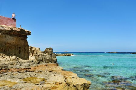 sant: a view of the Cala Conta beach, in Sant Josep de Sa Talaia, Ibiza Island, Spain